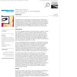 <i>Blogs</i> para educar.<br>Usos de los <i>blogs</i> en una pedagogía constructivista