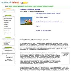 Pedagogia. Estimulacion temprana