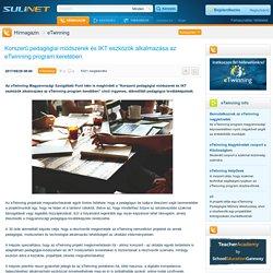 Korszerű pedagógiai módszerek és IKT eszközök alkalmazása az eTwinning program keretében