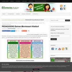 PEDAGOGÍAS Doman-Montessori-Waldorf -Orientacion Andujar