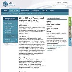289c - ICT and Pedagogical Development 2015C