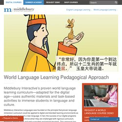 World Language Learning Pedagogical Approach