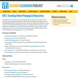 s Teaching Online Pedagogical Repository