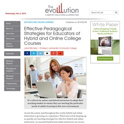 Effective Pedagogical Strategies for Educators of Hybrid and Online College Courses