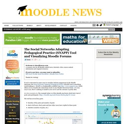 The Social Networks Adapting Pedagogical Practice (SNAPP) Tool and Visualizing Moodle Forums