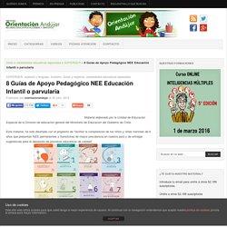 8 Guías de Apoyo Pedagógico NEE Educación Infantil o parvularia