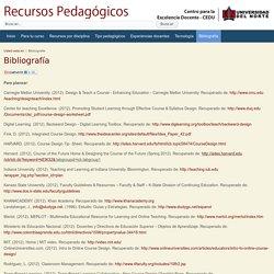 Recursos pedagógicos - Bibliografía