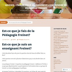 Soizikel : Parler pour apprendre et comprendre en Pédagogie Freinet
