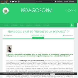 """PEDAGOGIE, L'ART DE """"PRENDRE DE LA DISTANCE"""""""