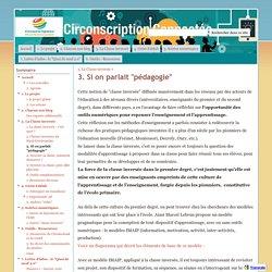 """3. Si on parlait """"pédagogie"""" - Circonscription connectée 2015-2016"""