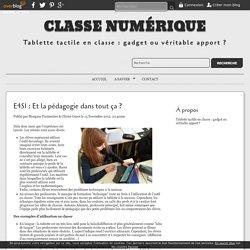 E4S1 : Et la pédagogie dans tout ça ? - Classe Numérique
