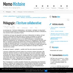 Pédagogie : l'écriture collaborative ← Memo Histoire