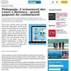 Pédagogie. L'avènement des cours à distance - grand gagnant du confinement - Le Parisien Etudiant