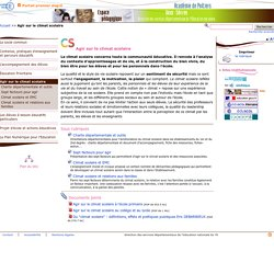 Agir sur le climat scolaire - Pédagogie - Direction des services départementaux de l'éducation nationale du 79