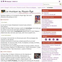 La musique au Moyen-Âge- Pédagogie - Direction des services départementaux de l'éducation nationale du 16