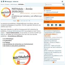MATHebdo - Pédagogie - Direction des services départementaux de l'éducation nationale de la Vienne