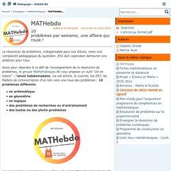 MATHebdo - Pédagogie - Direction des services départementaux de l'éducation n...