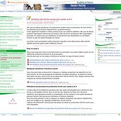 Produire des écrits courts aux cycles 2 et 3- Pédagogie - Direction des services départementaux de l'éducation nationale du 17
