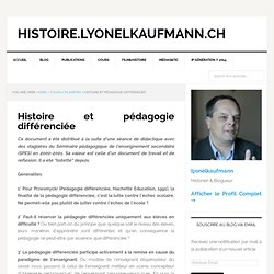 Histoire et pédagogie différenciée