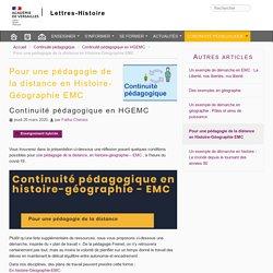 Pour une pédagogie de la distance en Histoire-Géographie EMC