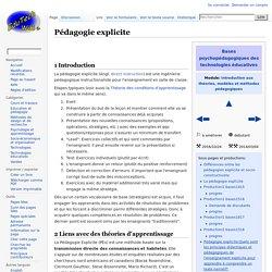 Pédagogie explicite