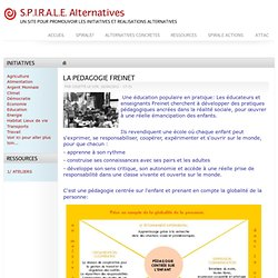 LA PEDAGOGIE FREINET | S.P.I.R.A.L.E. Alternatives