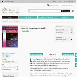 Pédagogie Freinet et pédagogie sociale