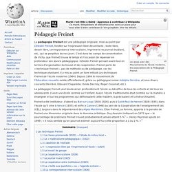 Pédagogie Freinet
