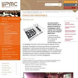 Teaching Lab : un espace de co-working dédié à la pédagogie innovante -Université Pierre et Marie CURIE