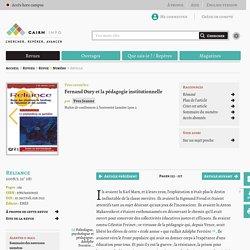Fernand Oury et la pédagogie institutionnelle