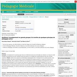 Pédagogie médicale