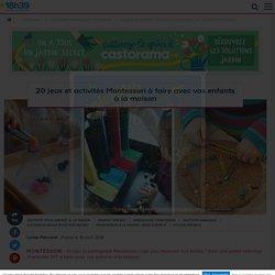 Pédagogie Montessori : 20 jeux et activités DIY pour enfants à la maison