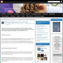 Pédagogie Montessori : bac sensoriel