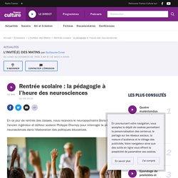 Rentrée scolaire : la pédagogie à l'heure des neurosciences