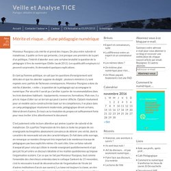ARTICLE - Duvauchelle - Mérite et risque… d'une pédagogie numérique – Veille et Analyse TICE