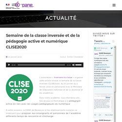 Semaine de la classe inversée et de la pédagogie active et numérique CLISE2020