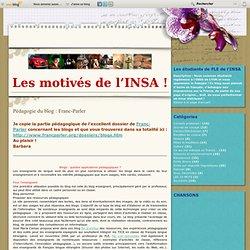 Pédagogie du blog : Franc-Parler - Le blog des étudiants de FLE de l'INSA-Lyon