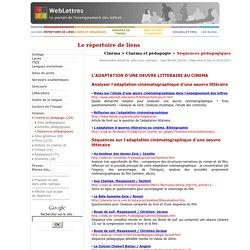 Cinéma > Cinéma et pédagogie > Séquences pédagogiques