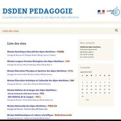 Le portail des sites pédagogiques du 1er degré des Alpes-Maritimes