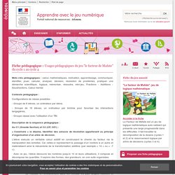 """pedagogie: Usages pédagogiques du jeu """"le facteur de Mafate"""" du cycle 1 au cycle 4"""