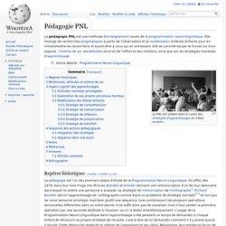 Pédagogie PNL
