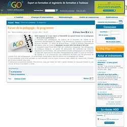 Forum de la pédagogie : le programme