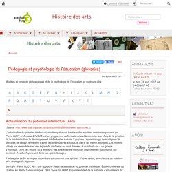 Pédagogie et psychologie de l'éducation (glossaire)