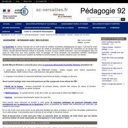 Pédagogie 92 - Quizinière - Interagir avec ses élèves