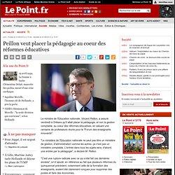 Peillon veut placer la pédagogie au coeur des réformes éducatives