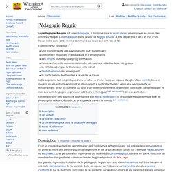 Pédagogie Reggio