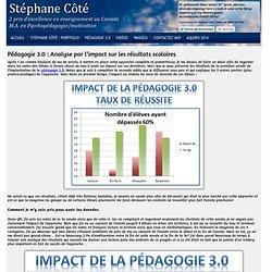 Pédagogie 3.0 : Analyse par l'impact sur les résultats scolaires