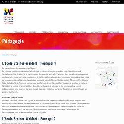 Pédagogie Steiner-Waldorf : pourquoi, pour qui, comment ?