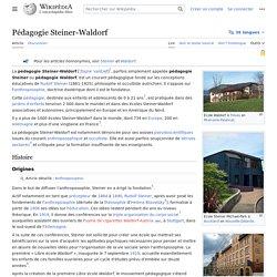 Pédagogie Steiner-Waldorf