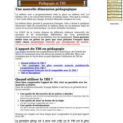 Pédagogie et TBI